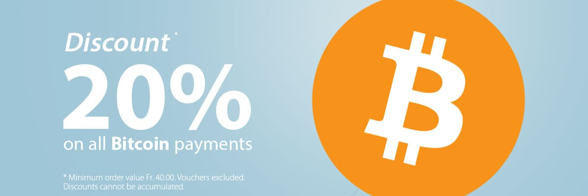 20% discount on all Bitcoin payments!